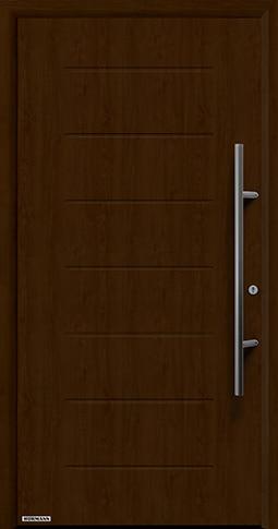 Входная дверь Hormann Thermo65 Модель 015 Ночной дуб