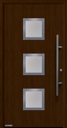 Входная дверь Hormann Thermo65 Модель 810S Ночной дуб