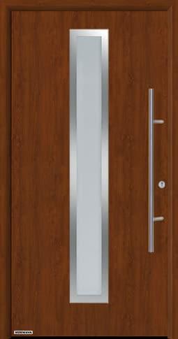 Входная дверь Hormann Thermo65 Модель 700A Тёмный дуб