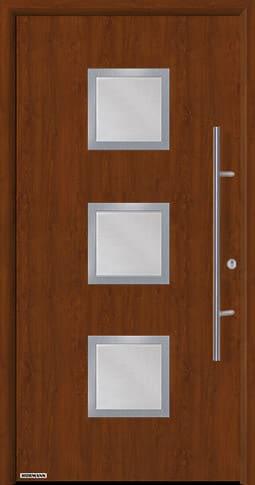 Входная дверь Hormann Thermo65 Модель 810S Тёмный дуб