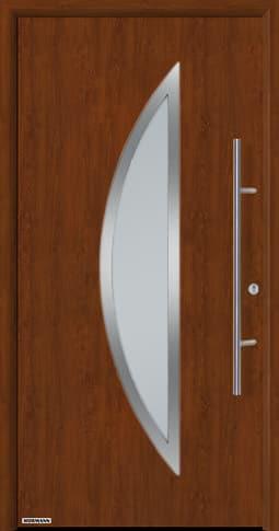 Входная дверь Hormann Thermo65 Модель 900S Тёмный дуб