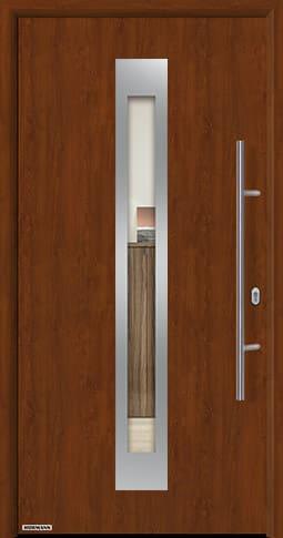 Входная дверь Hormann Thermo65 Модель 750F Тёмный дуб
