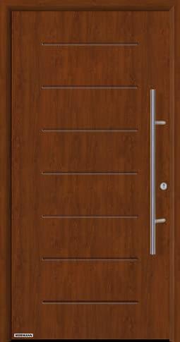 Входная дверь Hormann Thermo65 Модель 015 Тёмный дуб