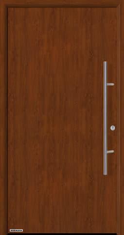 Входная дверь Hormann Thermo65 Модель 010 Тёмный дуб