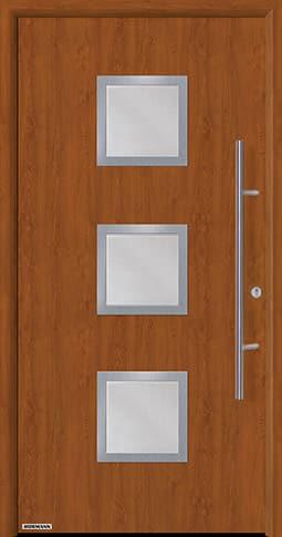 Входная дверь Hormann Thermo65 Модель 810S Золотой дуб