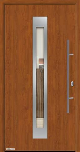 Входная дверь Hormann Thermo65 Модель 750F Золотой дуб