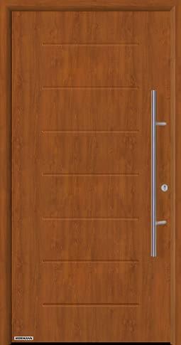 Входная дверь Hormann Thermo65 Модель 015 Золотой дуб