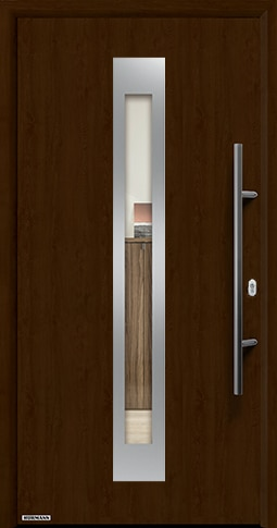 Входная дверь Hormann Thermo65 Модель 750F Ночной дуб