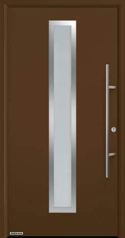 Входная дверь Hormann Thermo65 Модель 700A Коричневый RAL 8028