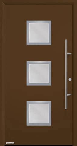 Входная дверь Hormann Thermo65 Модель 810S Коричневый RAL 8028