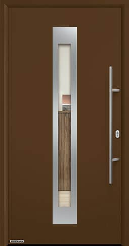 Входная дверь Hormann Thermo65 Модель 750F Коричневый RAL 8028