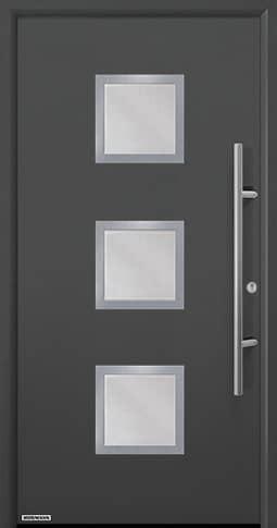 Входная дверь Hormann Thermo65 Модель 810S Титан металлик CH703