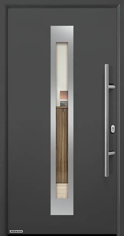 Входная дверь Hormann Thermo65 Модель 750F Титан металлик CH 703